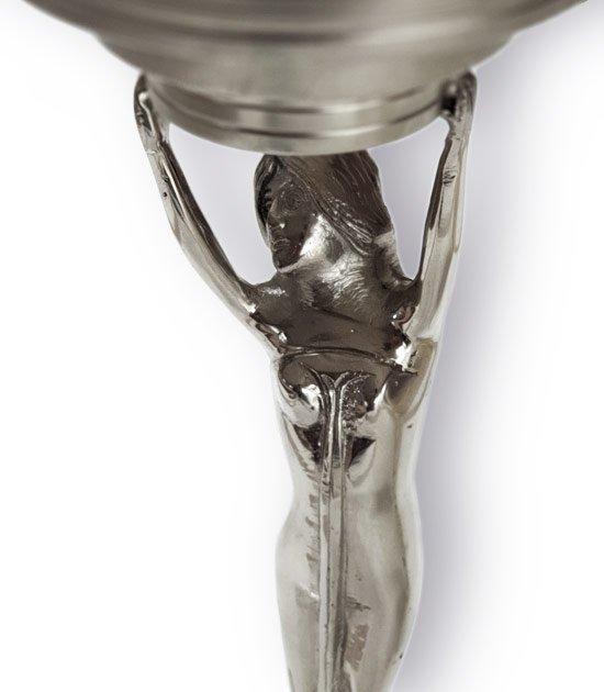 Spodní část absintové fontány Lady Mini se dvěma kohoutky na vodu.