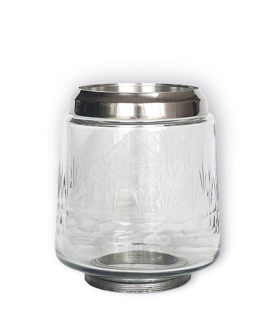 Náhradní sklo do velké absintové fontány se čtyřmi kovovými kohoutky.