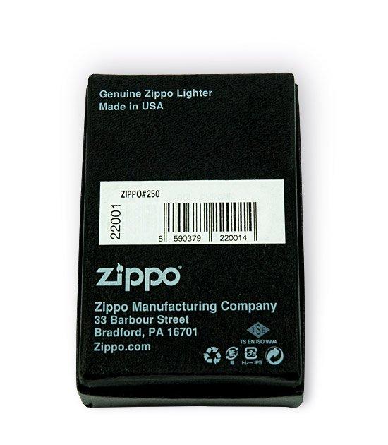 Krabička se zapalovačem Zippo - spodní pohled
